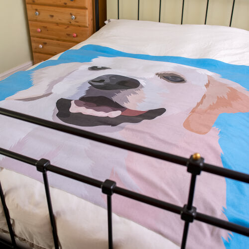 Personalised Dog Fleece Blanket