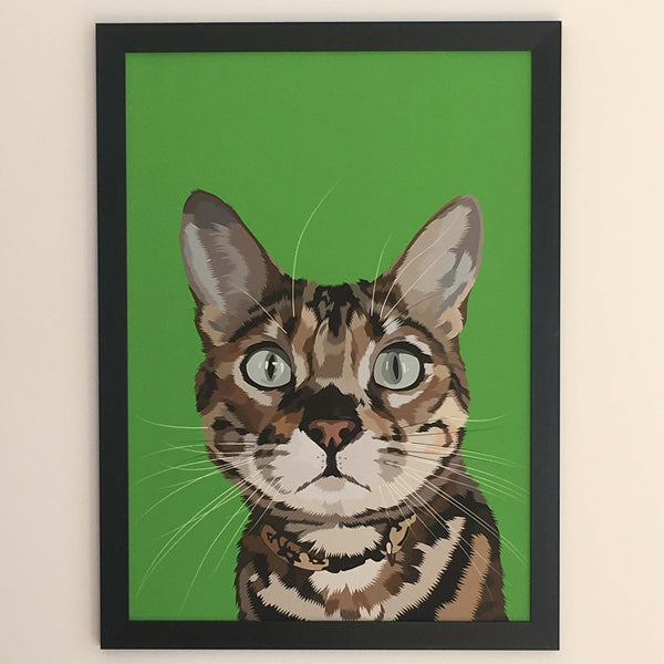 personalised cat fine art print