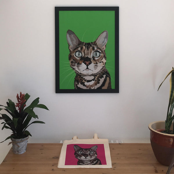 custom made cat framed print