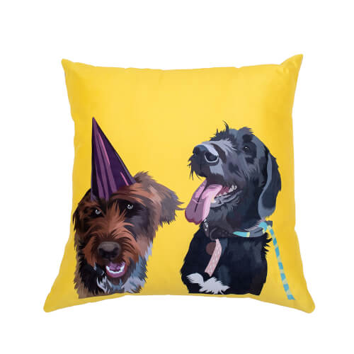 personalised two dogs cushion