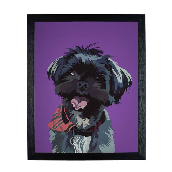 personalized dog fine art print on the wall