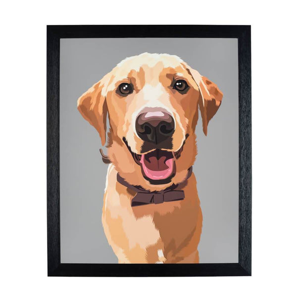 cartoonize pet on fine art print