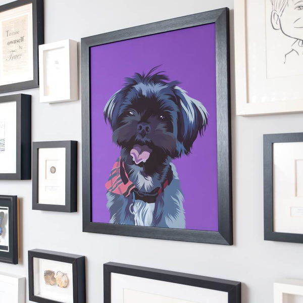 custom dog fine art print