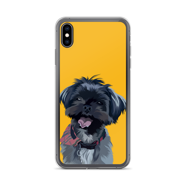 custom dog yellow iphone case