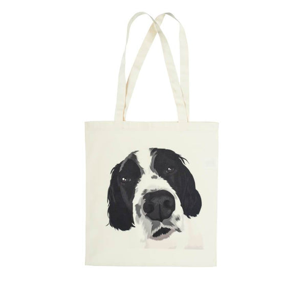 white color dog tote bag