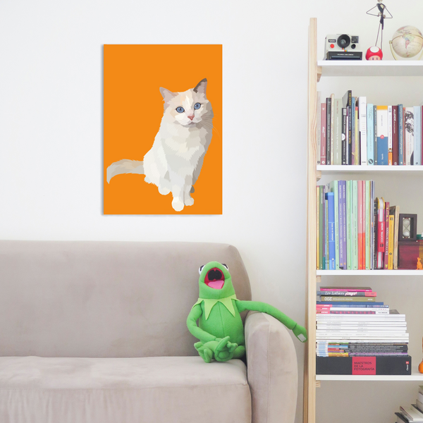 personalised cat wrapped canvas