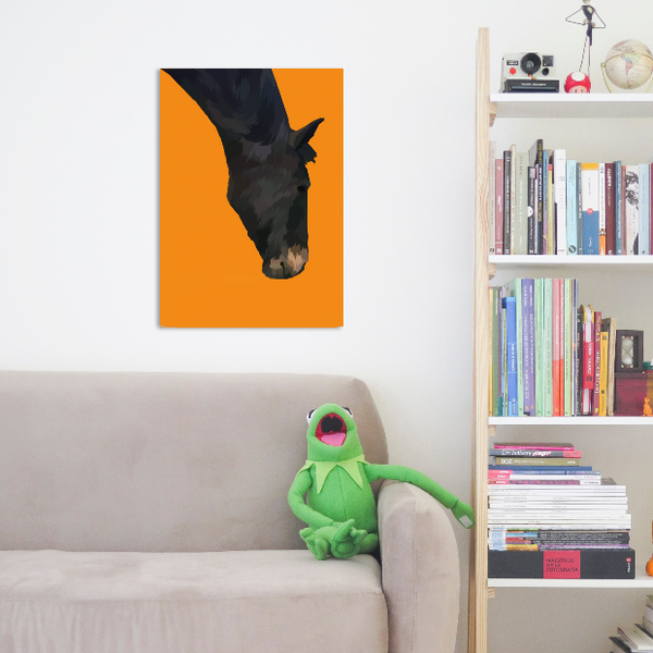personalised horse wrapped canvas