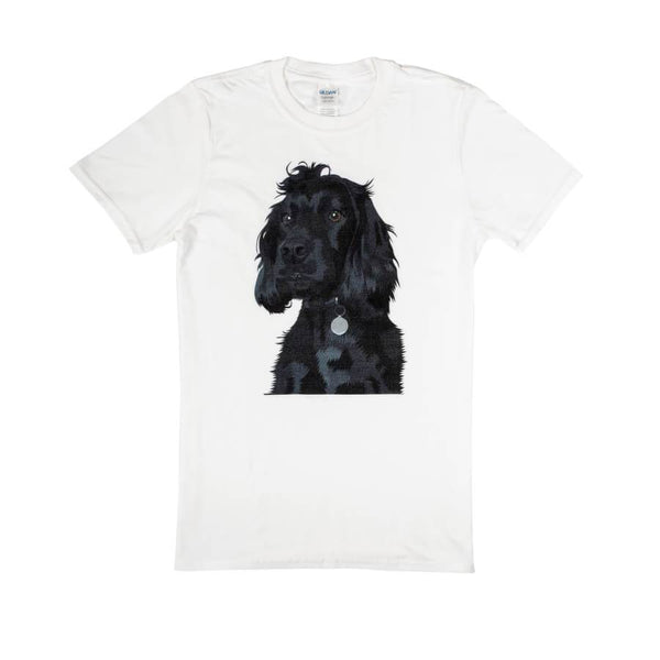 dog face on the t-shirt