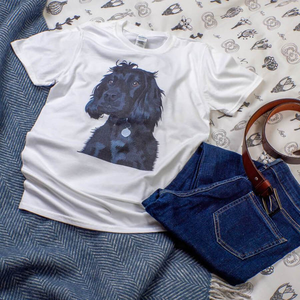 medium size white color dog t-shirt