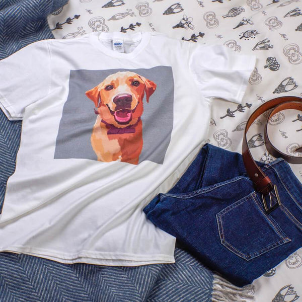 custom dog t shirts white color