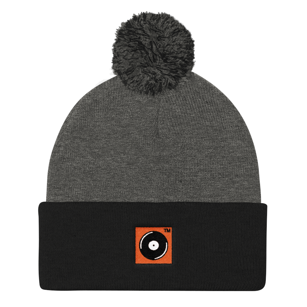 Cooked Records™ Embroidered Pom Pom Knit Cap