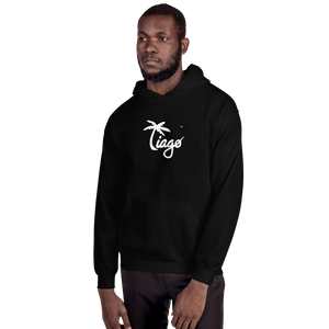 Tiago Vasquez™ White Logo Hooded Sweatshirt