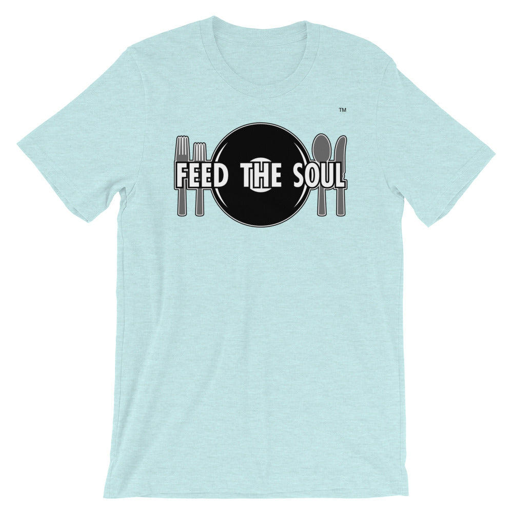 Feed the Soul t shirt in ice mint blue. Soft, comfy and stylish modern fit, sure to be a favourite.