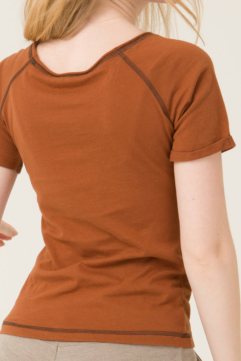 T-shirt (Marron) - Escale-shop