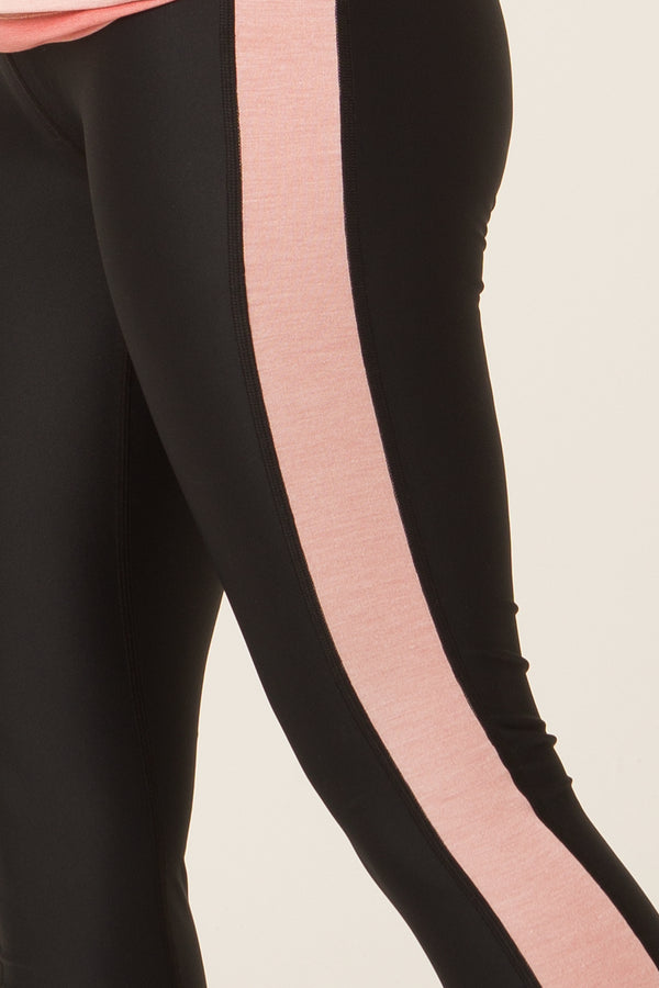 Le legging SKIN 3/4 noir et rose chiné - Escale-shop