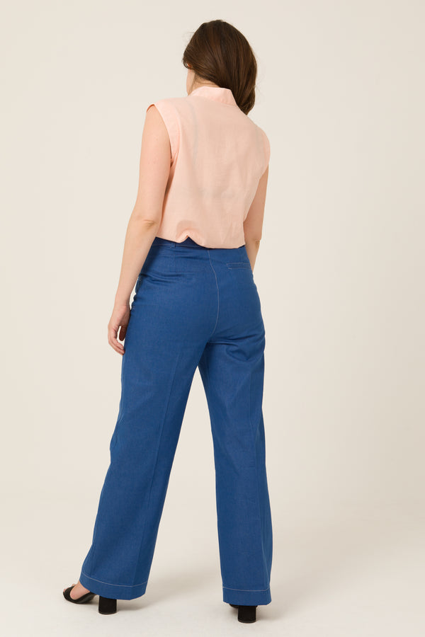 Utility pants Rachel (Denim) - Escale-shop