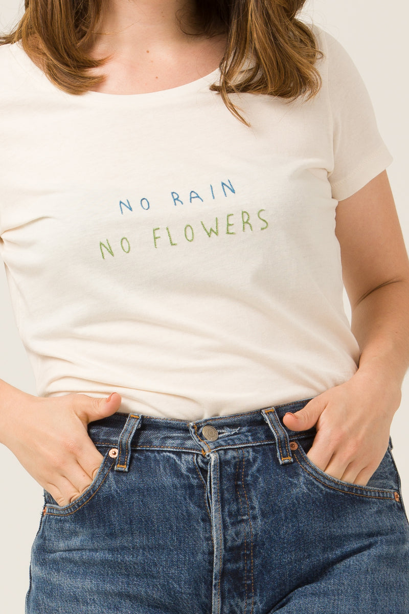 T-shirt - No rain no flowers - Escale-shop