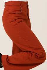 Utility pants Rachel (Burnt orange) - Escale-shop