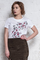 Alixe print cherry tree - 100% coton bio - Escale-shop
