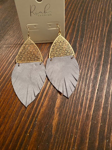 Half Fringe Drop Earrings
