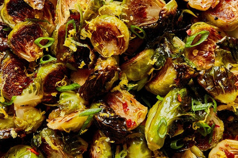 Roasted Brussels Sprouts with honey glaze via Epicurious