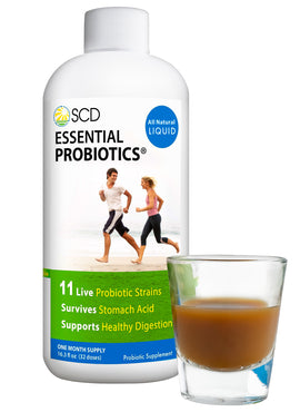 SCD Essential Probiotics - Liquid Probiotic Supplement 16.3 fl. oz - SCD Probiotics