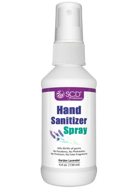 SCD Probiotics Hand Sanitizer Spray with Organic Essential Oil, 4.4 oz