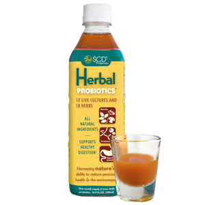 SCD Herbal Probiotics® - Liquid Probiotic Supplement with 18 Organic Herbs