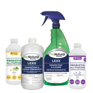 Cleaner & Disinfectant Concentrate (with Spray Bottle) + Probiotic Cleaner Concentrate