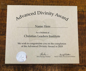 Advanced Divinity Award (Tier 3)