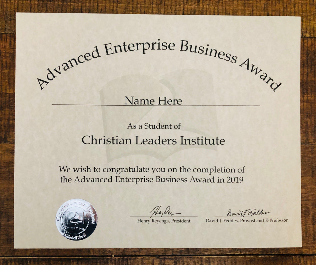 Advanced Enterprise Business Award