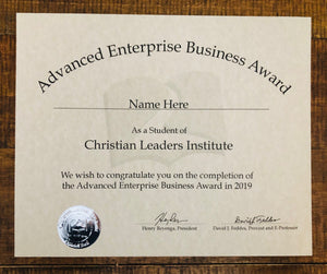 Advanced Enterprise Business Award (Tier 3)