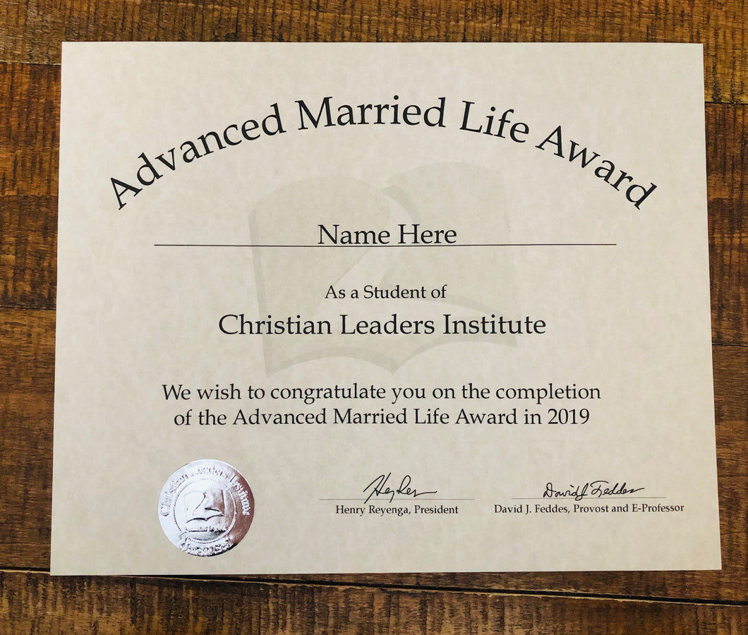 Advanced Married Life Award (Tier 1)