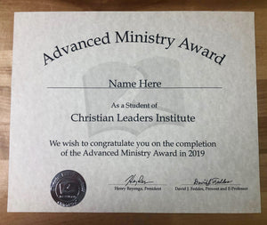 Advanced Ministry Award