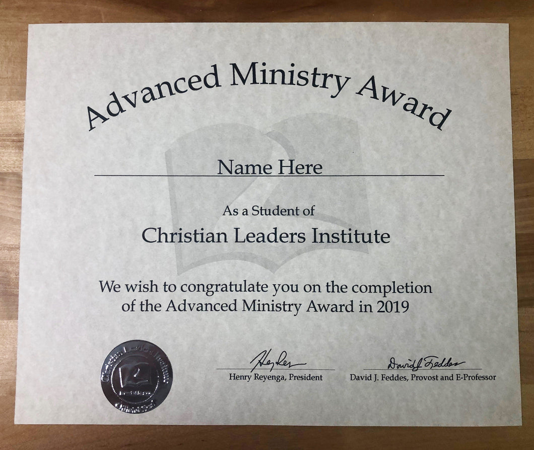 Advanced Ministry Award (Tier 3)