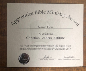 Apprentice Bible Ministry (Tier 1)