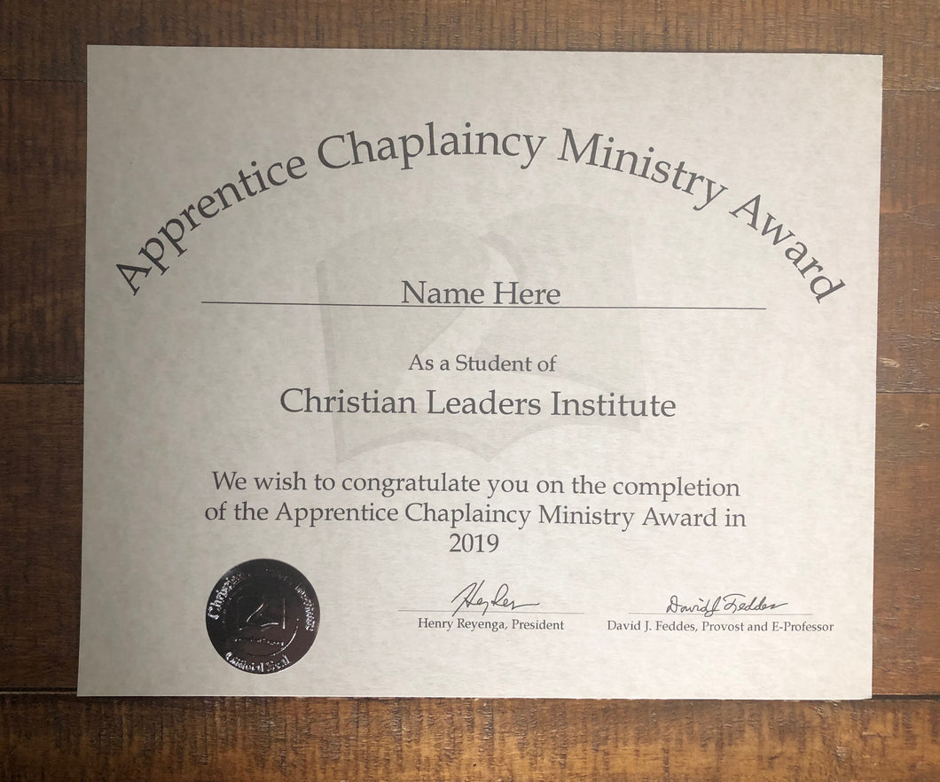 Apprentice Chaplaincy Ministry