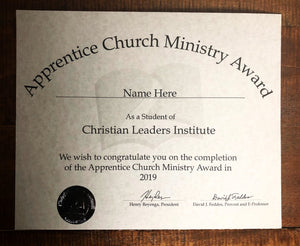 Apprentice Church Ministry Award