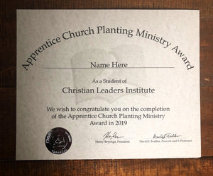 Apprentice Church Planting Ministry (Tier 1)