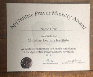 Apprentice Prayer Ministry Award