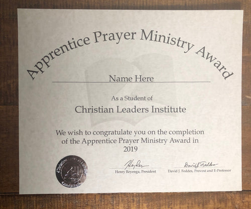 Apprentice Prayer Ministry Award (Tier 2)