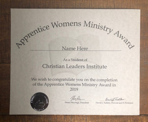 Apprentice Women's Ministry Award (Tier 1)