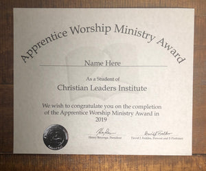 Apprentice Worship Ministry Award (Tier 1)