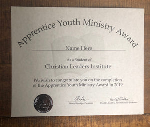 Apprentice Youth Ministry Award (Tier 2)