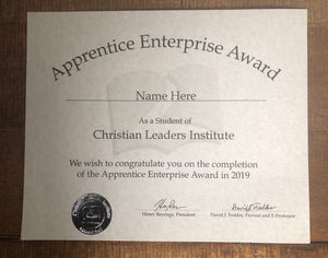 Apprentice Enterprise Award (Tier 1)