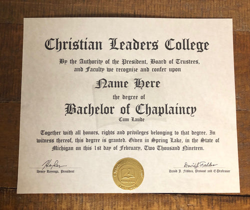Bachelor of Chaplaincy Degree