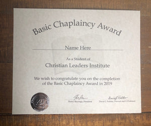 Basic Chaplaincy Award