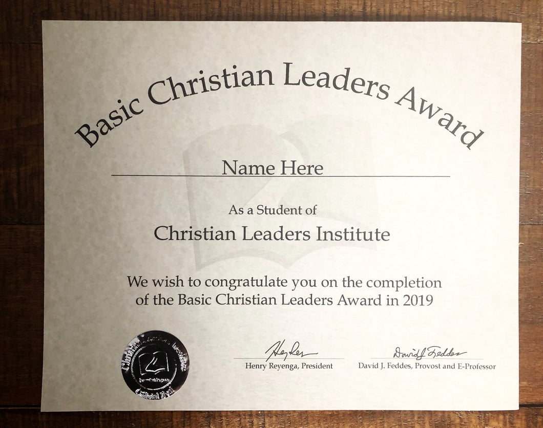 Basic Christian Leaders Award