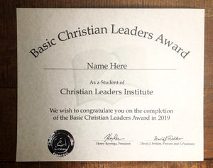 Basic Christian Leaders Award (Tier 2)