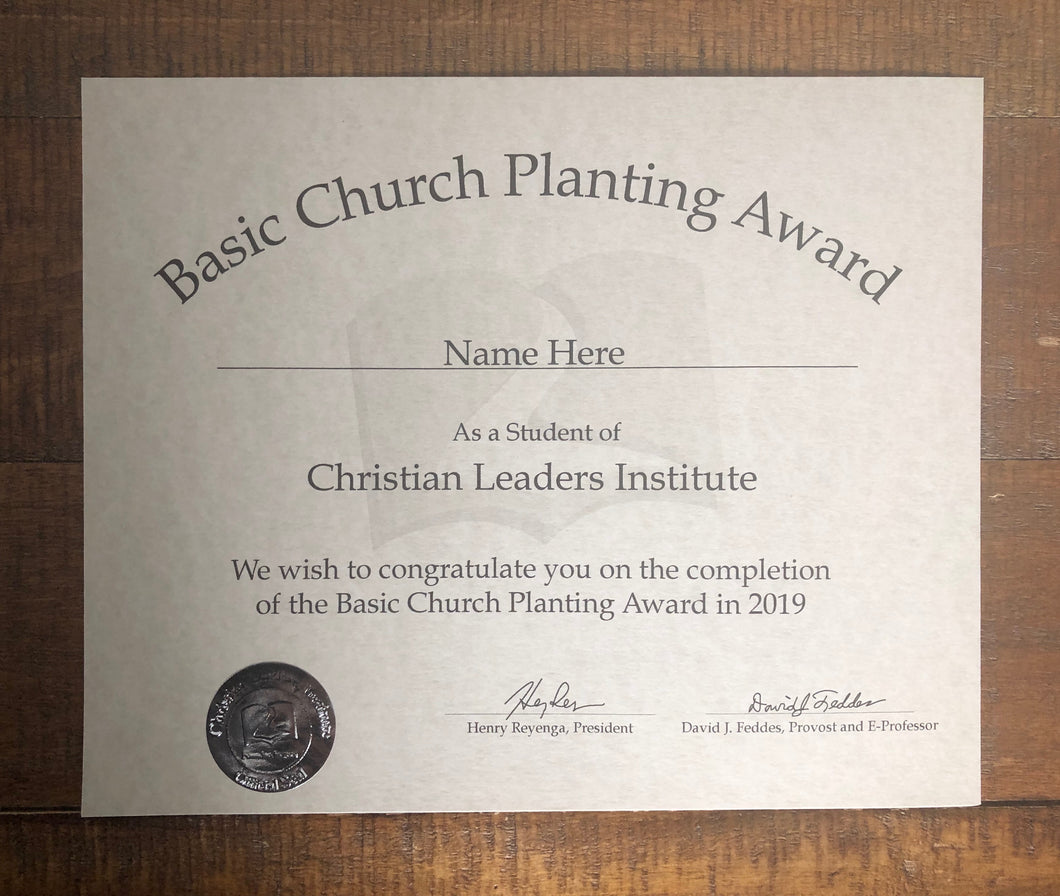 Basic Church Planting Award (Tier 2)
